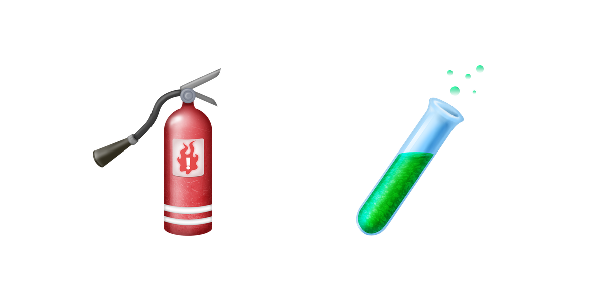 fire-extinguisher-test-tube-emojis-emojipedia | 9to5Mac