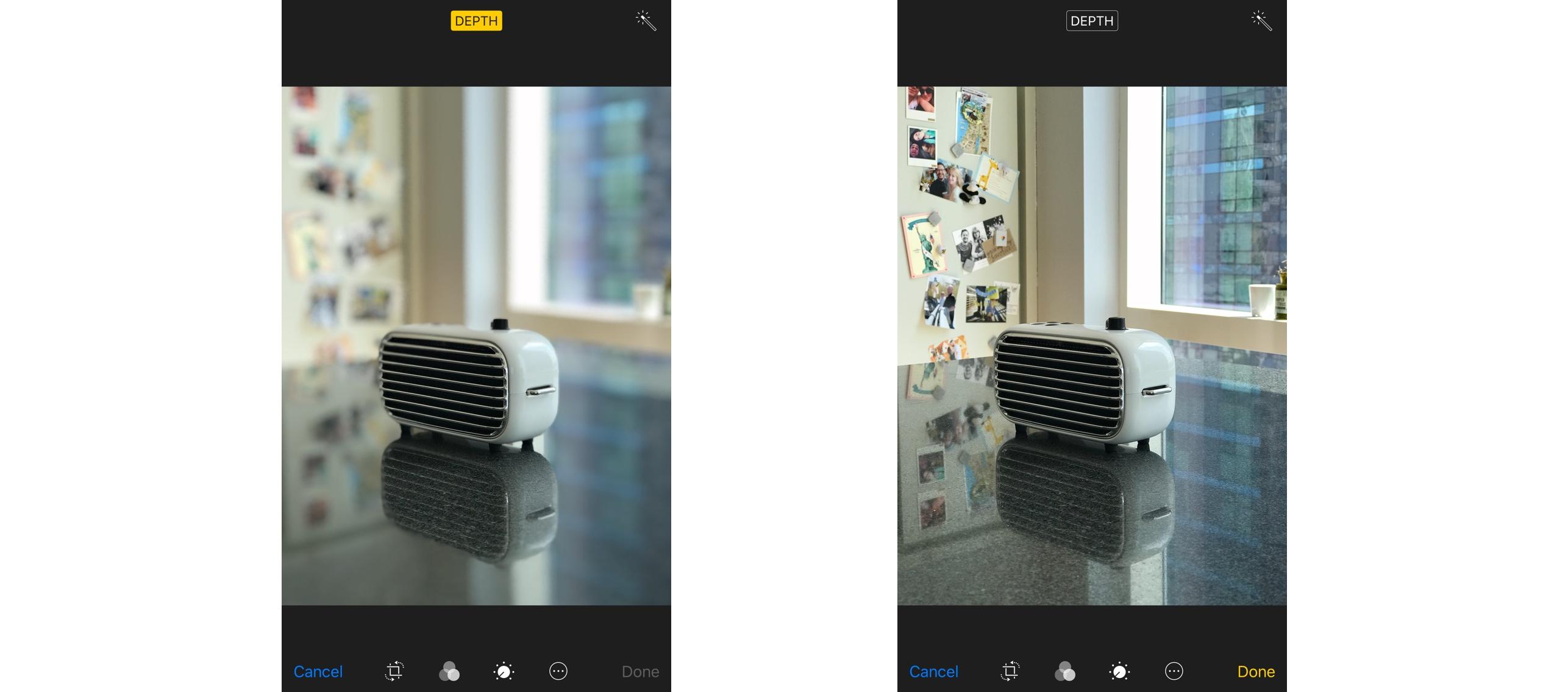 iOS 11 Editing Photo Depth Effect