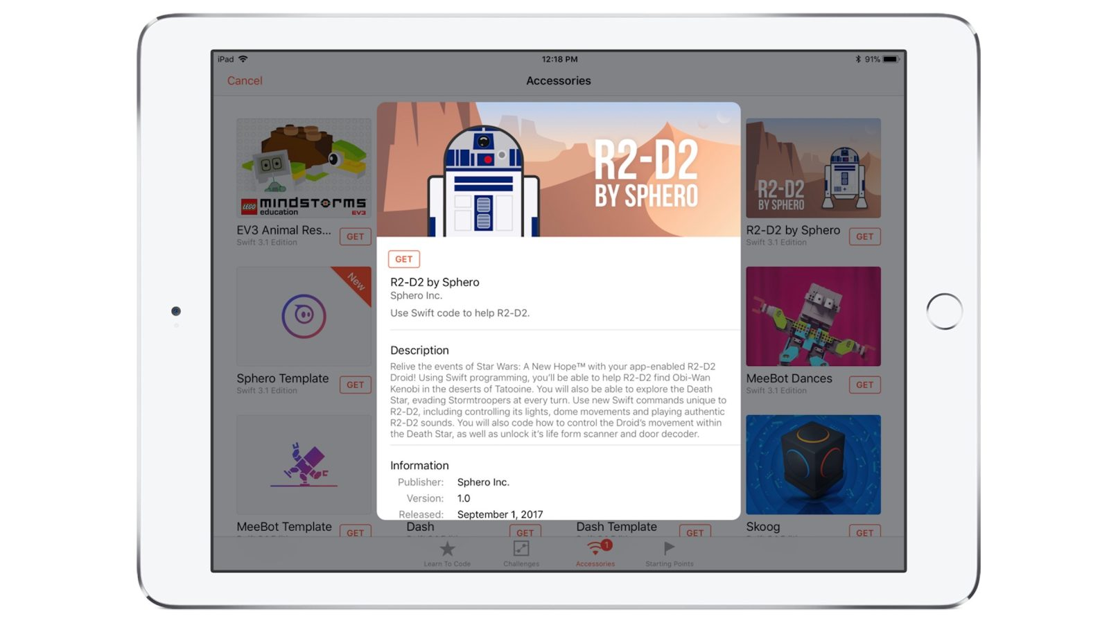 Playgrounds for iPad gains new Swift courses with Sphero