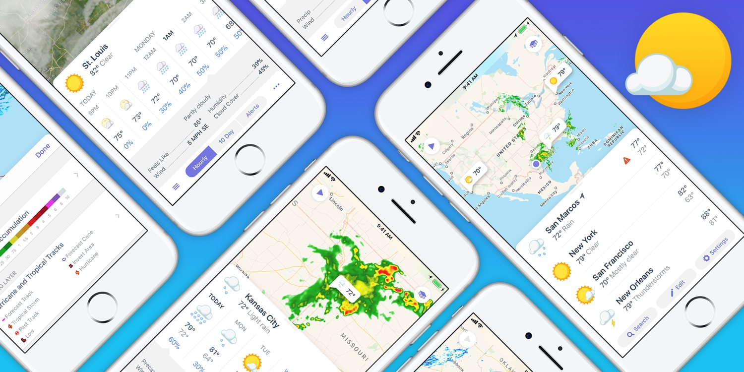 Contrast launches Weather Atlas, designed with the iPhone 8 in mind