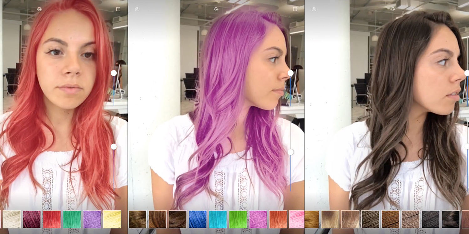 New AR demo apps preview hair coloring, and a fun way to leave