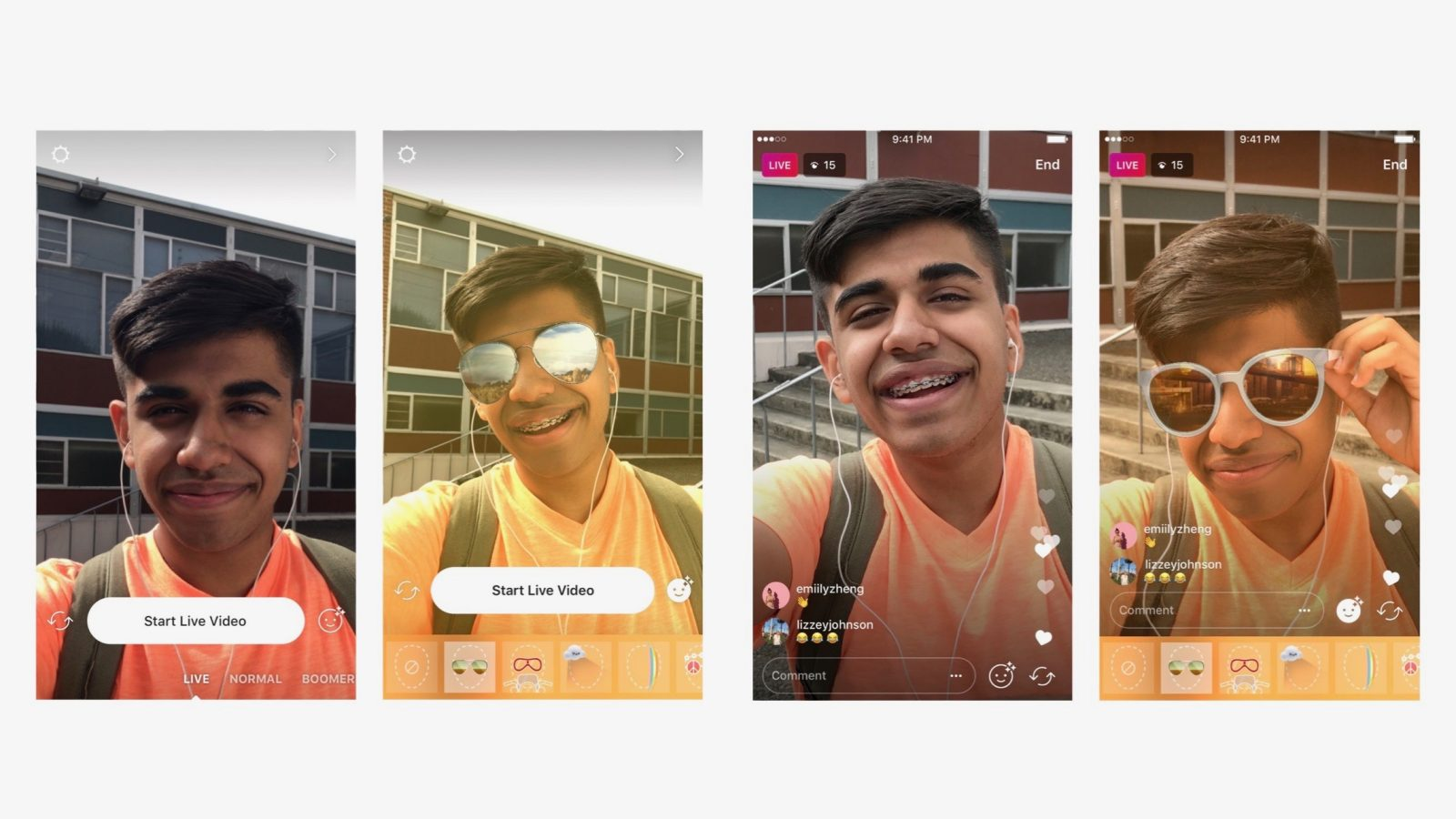 Instagram brings its popular face filters to live video