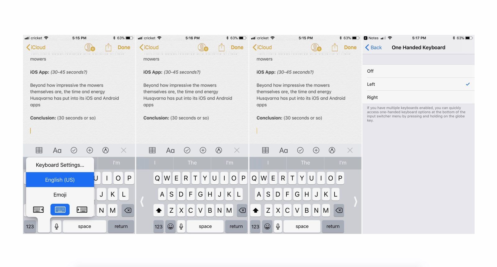 iOS 11: How to use the one handed keyboard - 9to5Mac