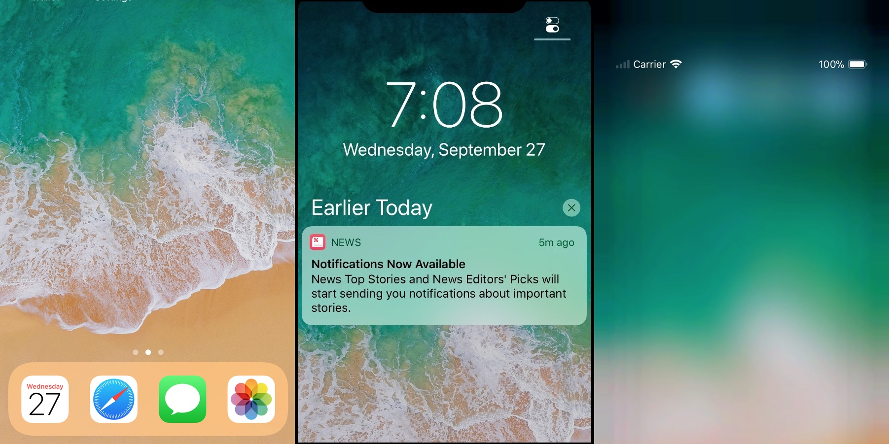 iphone 5 lock screen new betas show iphone x lock screen and home screen 14540