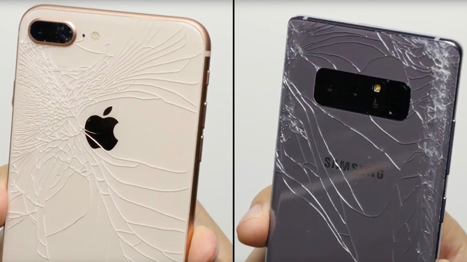 Cracked iphone 8 back