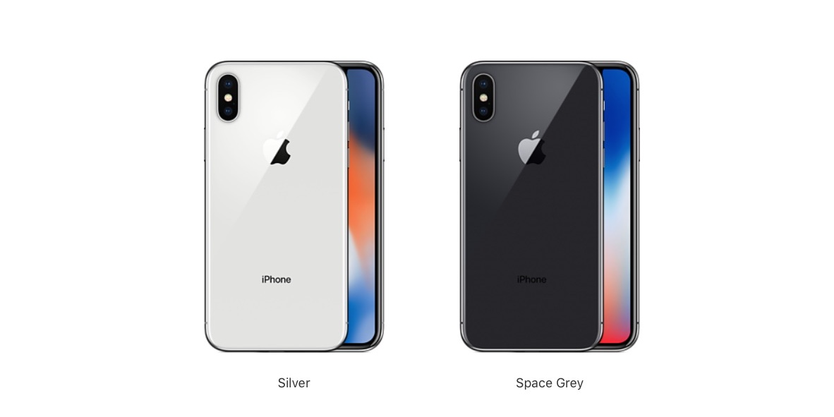 iPhone X offered in Space Gray and Silver only, no gold