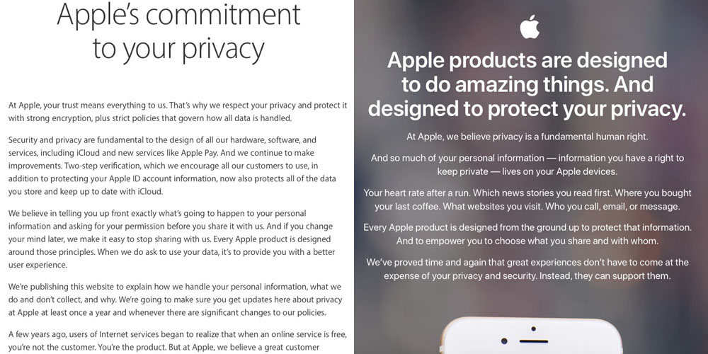Cook and Schiller point to new privacy page, much more