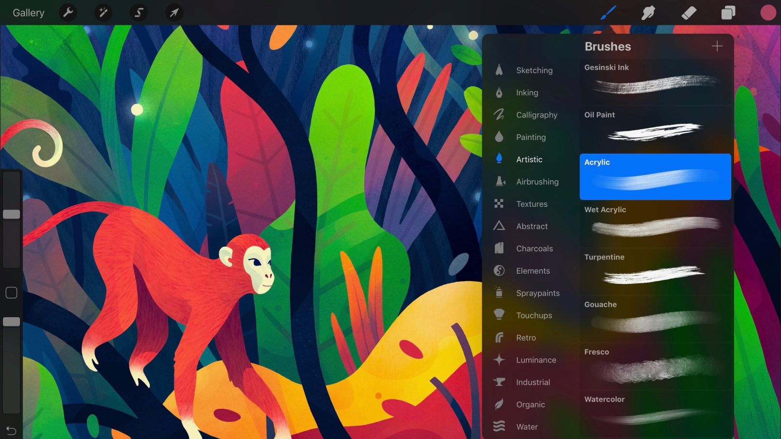 procreate 4 brings interface overhaul new metal engine for