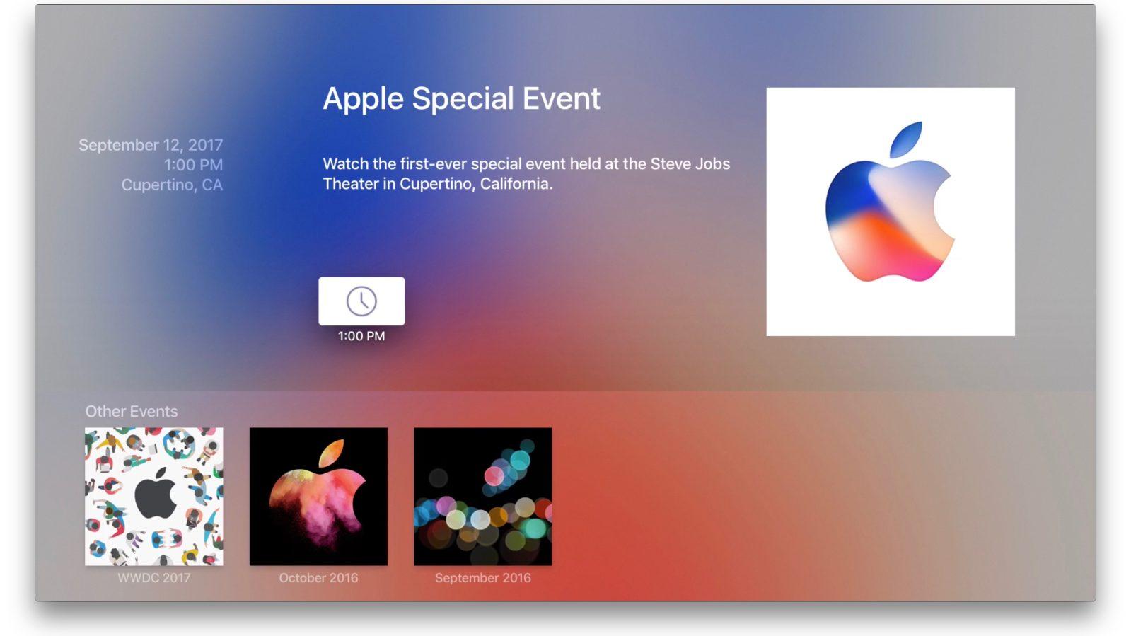 Apple updates Apple TV 'Events' streaming app ahead of iPhone 8 unveiling  next week - 9to5Mac
