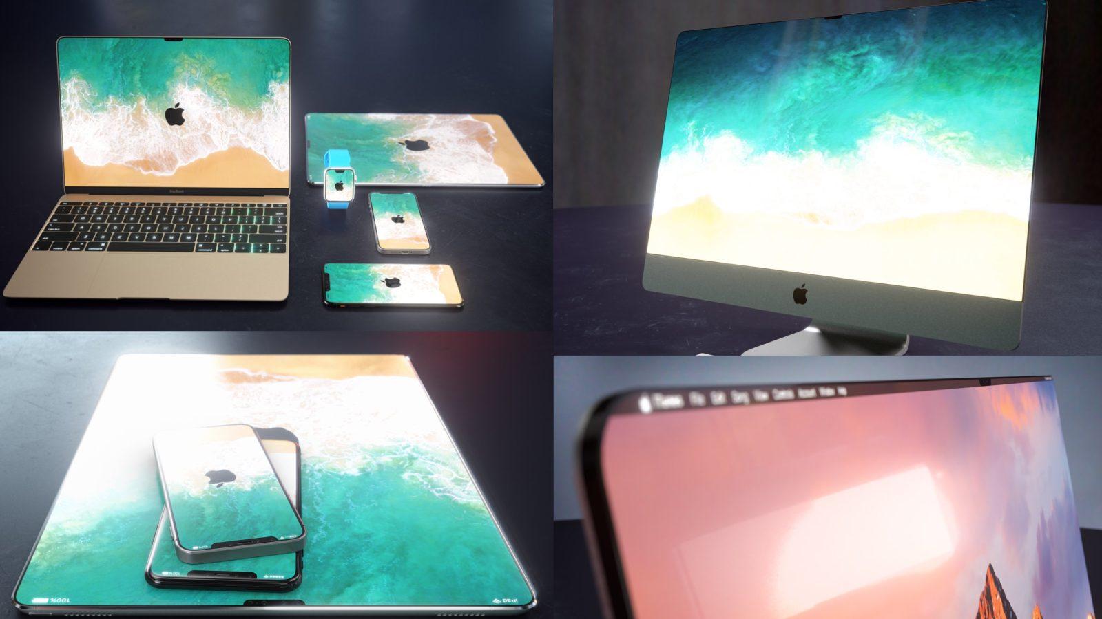 New renders imagine iPhone X notch + bezel design coming to MacBook, iMac, iPad, more [Gallery]