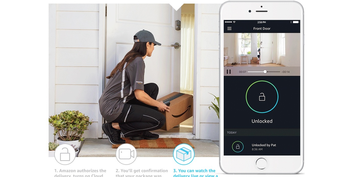 Amazon Launches Smart Lock And Security Cam System To Take In Home