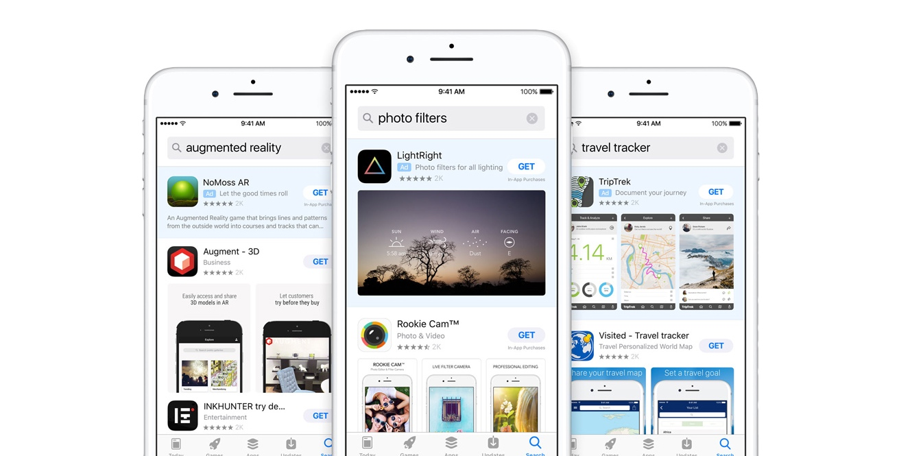 WSJ: Apple bringing Search Ads to results within apps, in talks with Snapchat & Pinterest