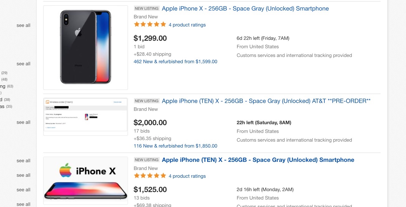 super popolare 3f2a6 971fd iPhone X shipping dates slip to 5-6 weeks as scalpers flood ...