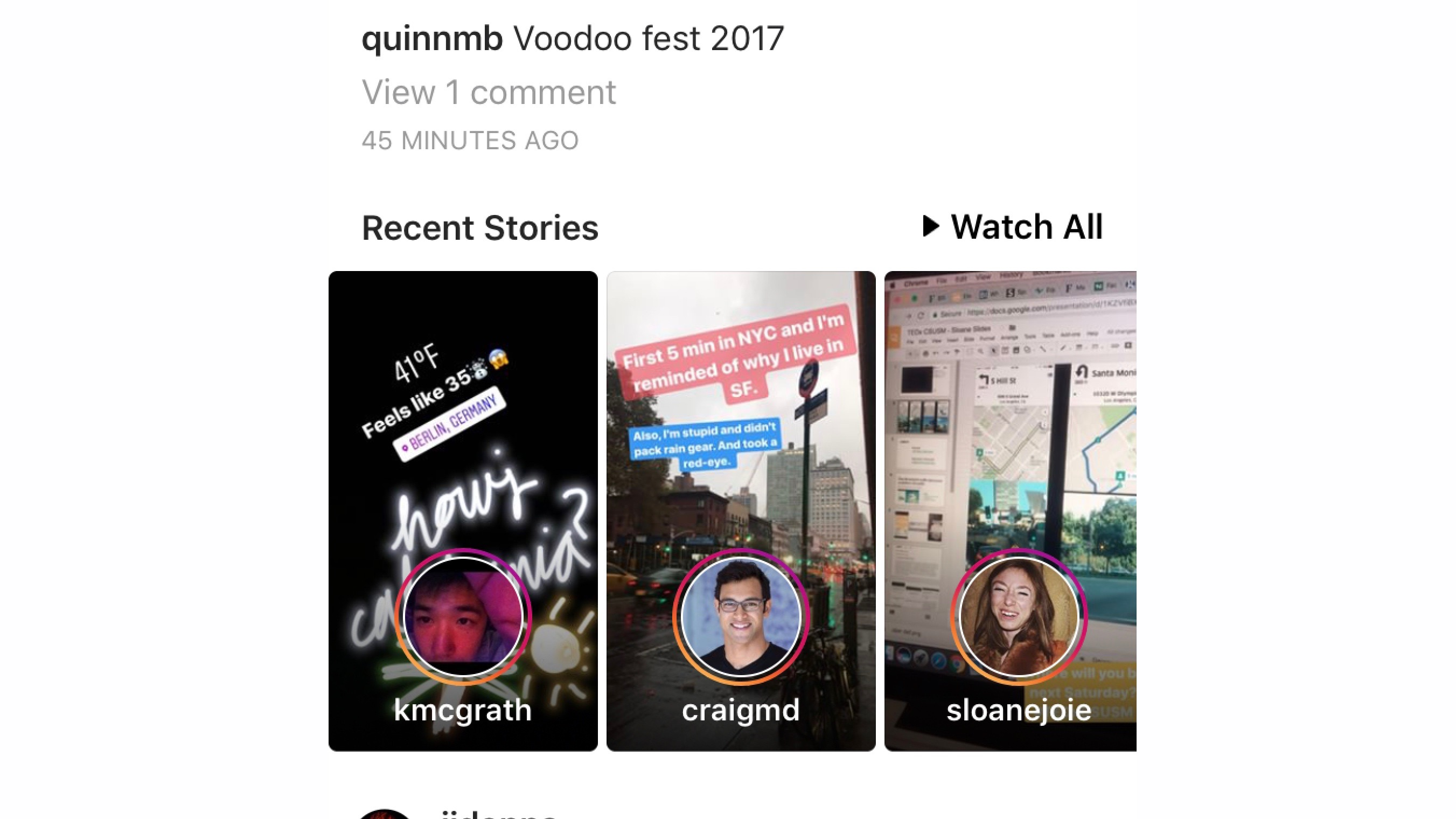 Instagram adds mid-feed preview tiles for Stories, tests new