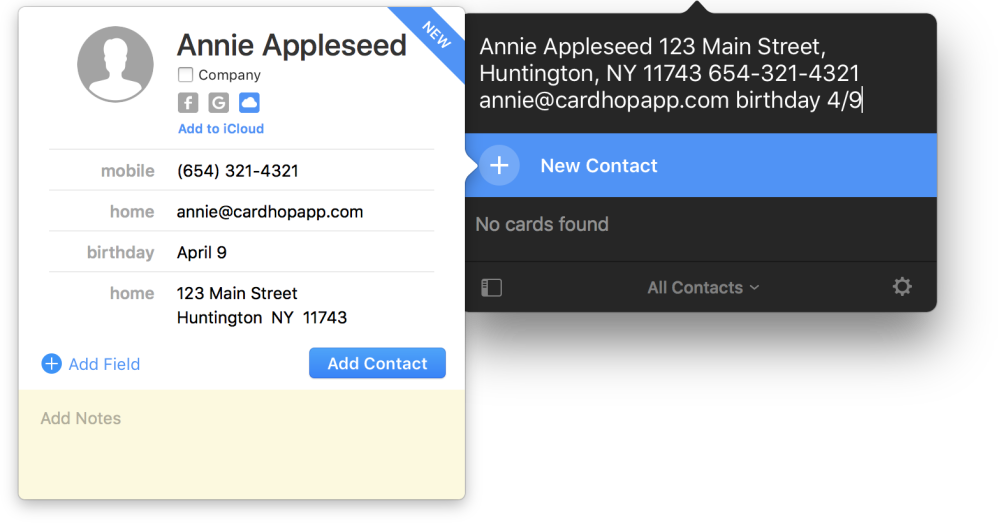Cardhop for Mac is a seriously intelligent contacts app from the makers of Fantastical