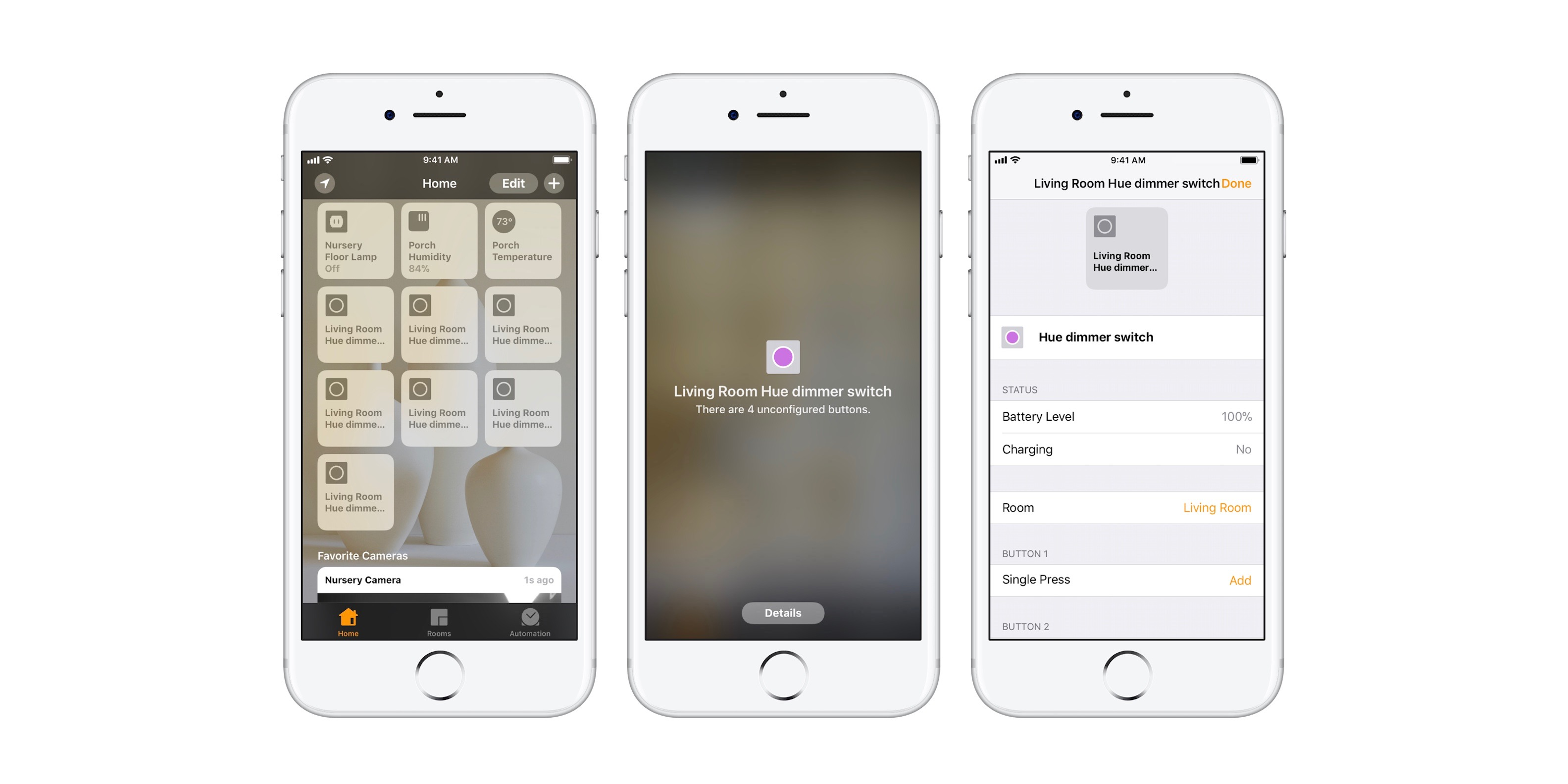 Philips Hue retroactively adds HomeKit features to tap, dimmer switch and motion sensor