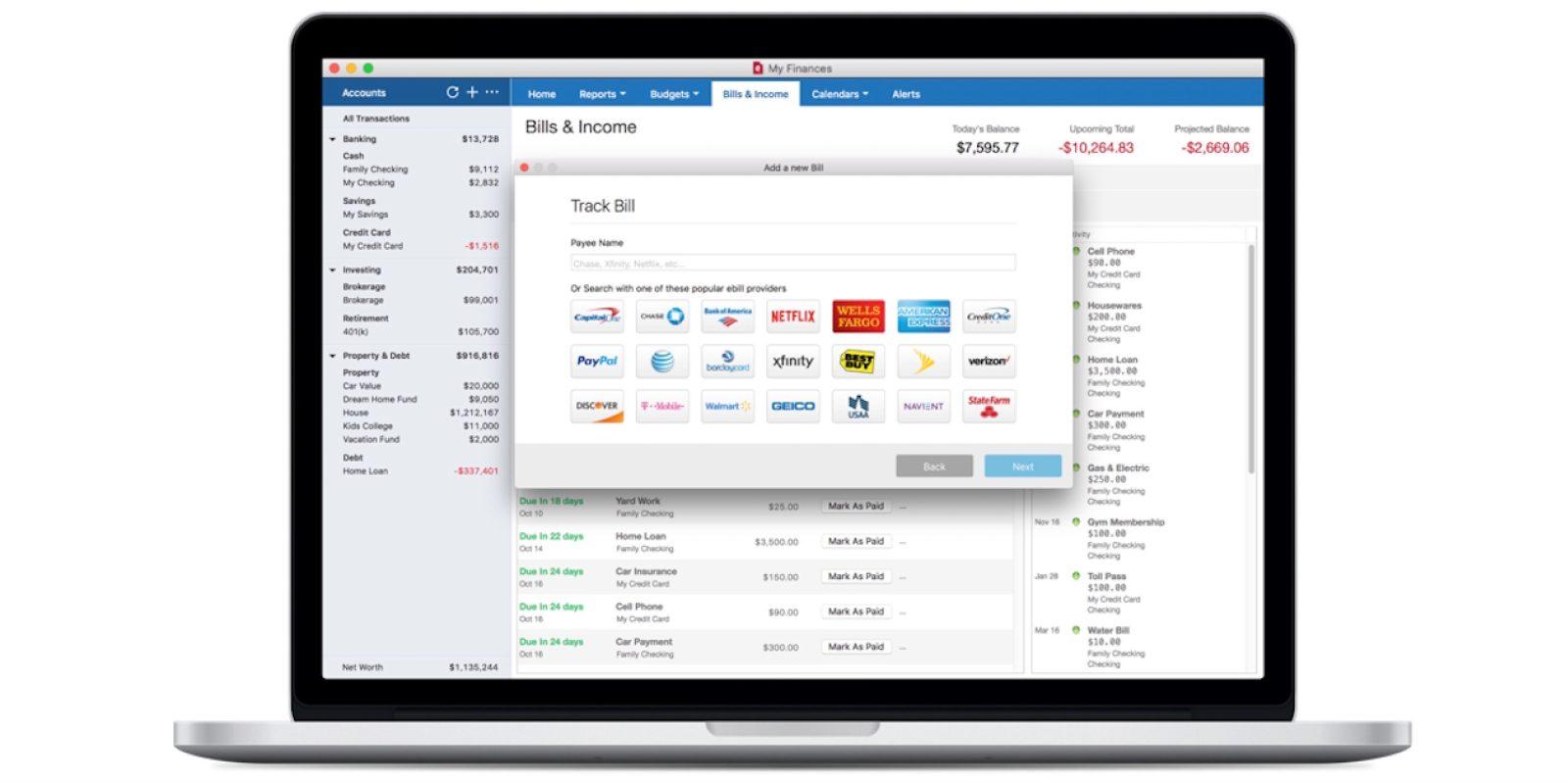 Quicken 2018 offers three Mac subscription plans w/ online