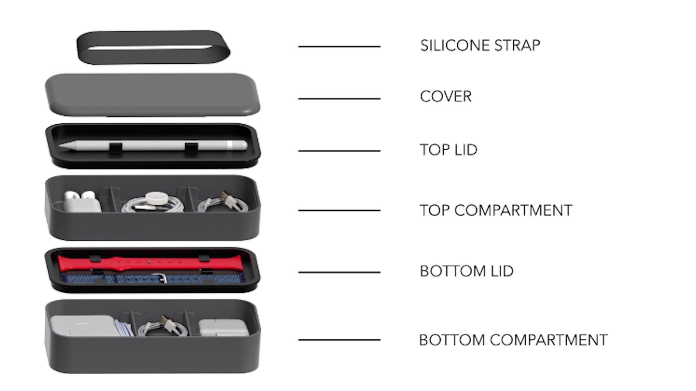 Bento Stack aims to make it easier to organize & travel w/ your Apple accessories
