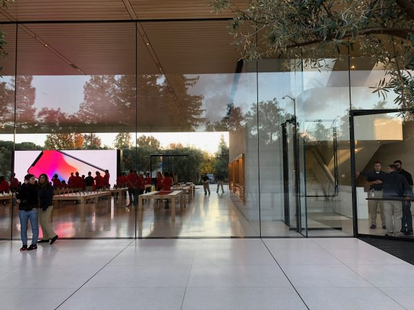 Apple Park's Visitor Center welcomes the public with grand
