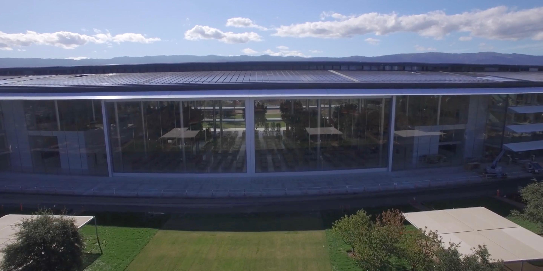 Watch This Breathtaking GIF Of Apple Parku0027s 3 Story Lunchroom Door Opening