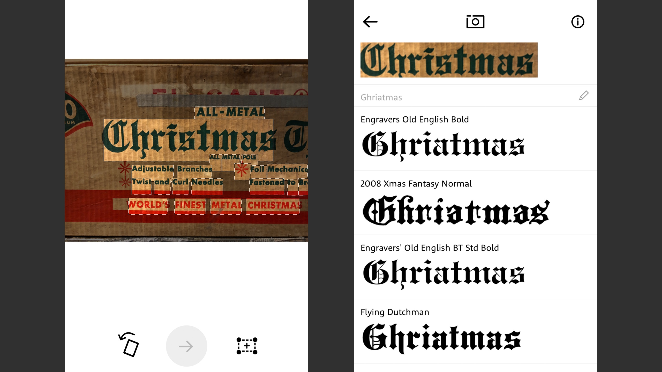 Comparison: The best apps for identifying fonts with your