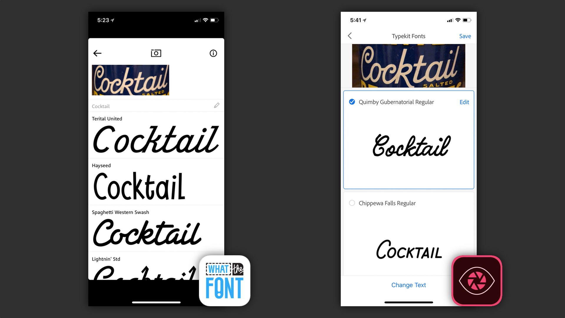 Comparison: The best apps for identifying fonts with your iPhone