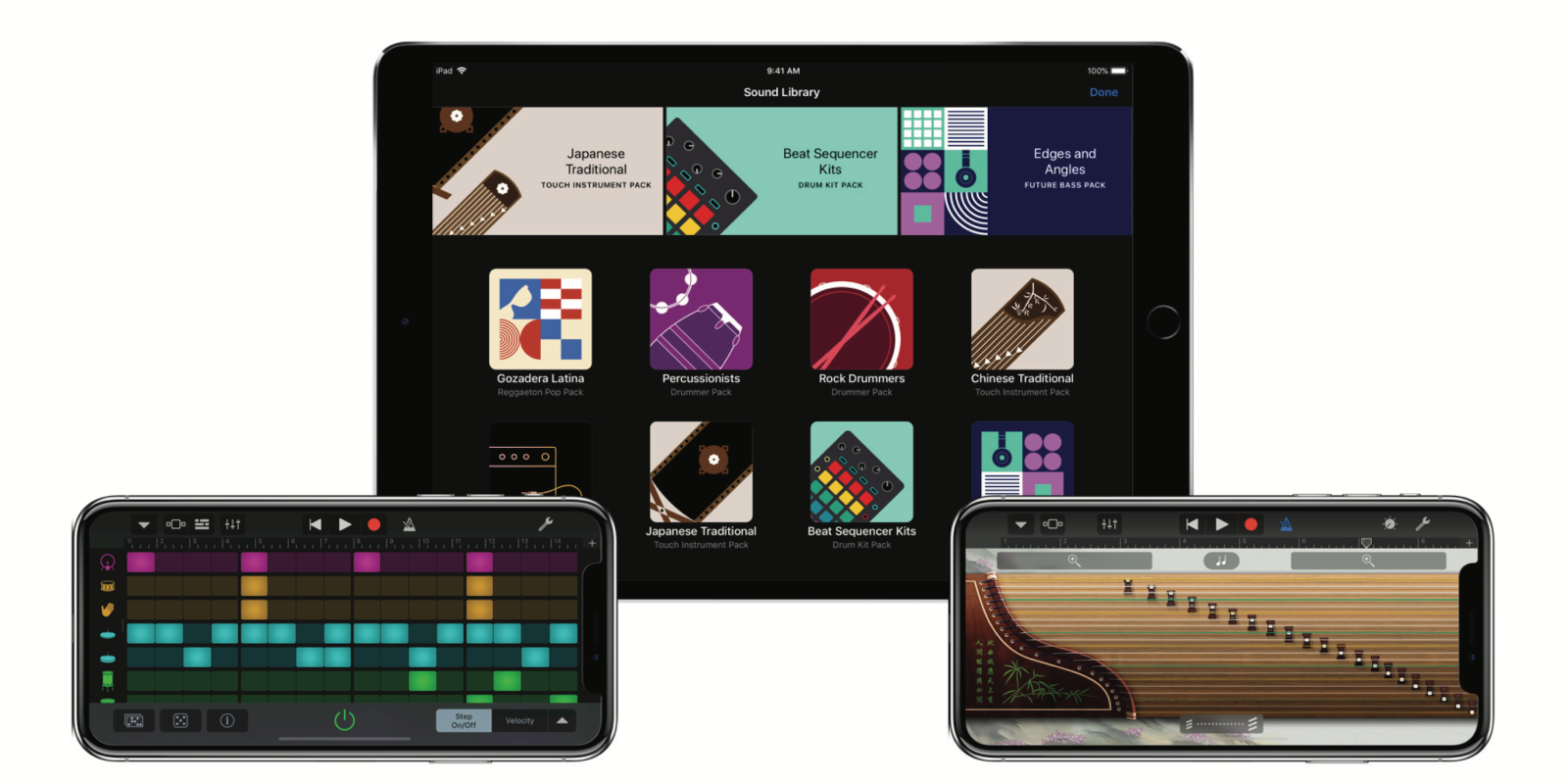 GarageBand 2.3 adds new Sound Library, Beat Sequencer, Instruments, iPhone X support & more