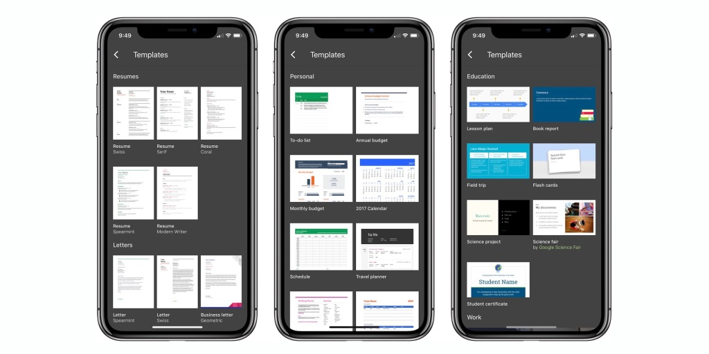 Google Docs apps updated for iPhone X, iOS 11 drag-and-drop