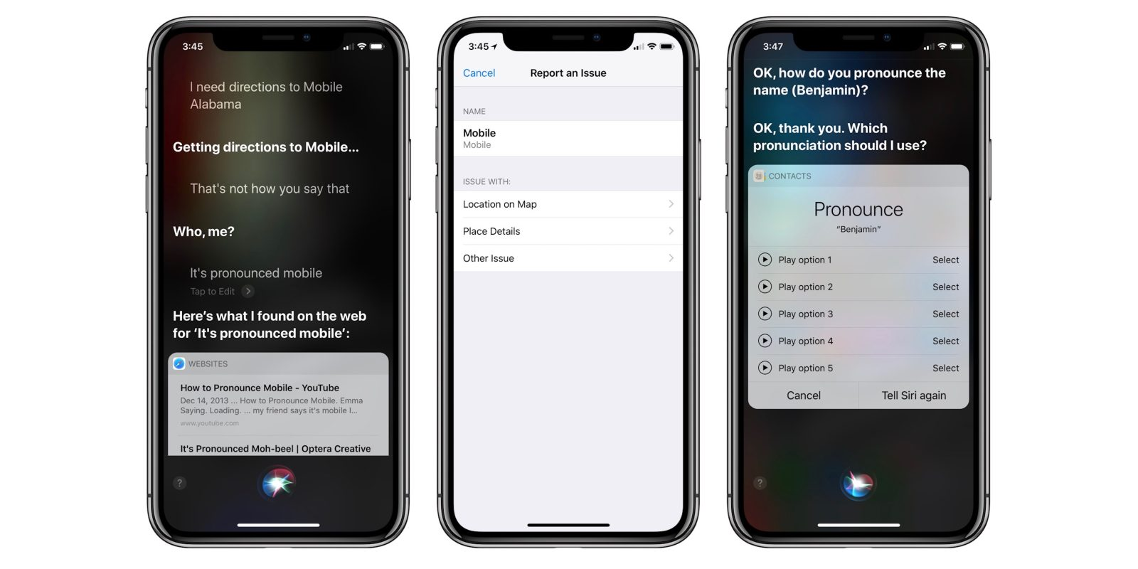 feature request siri could use help learning to pronounce city