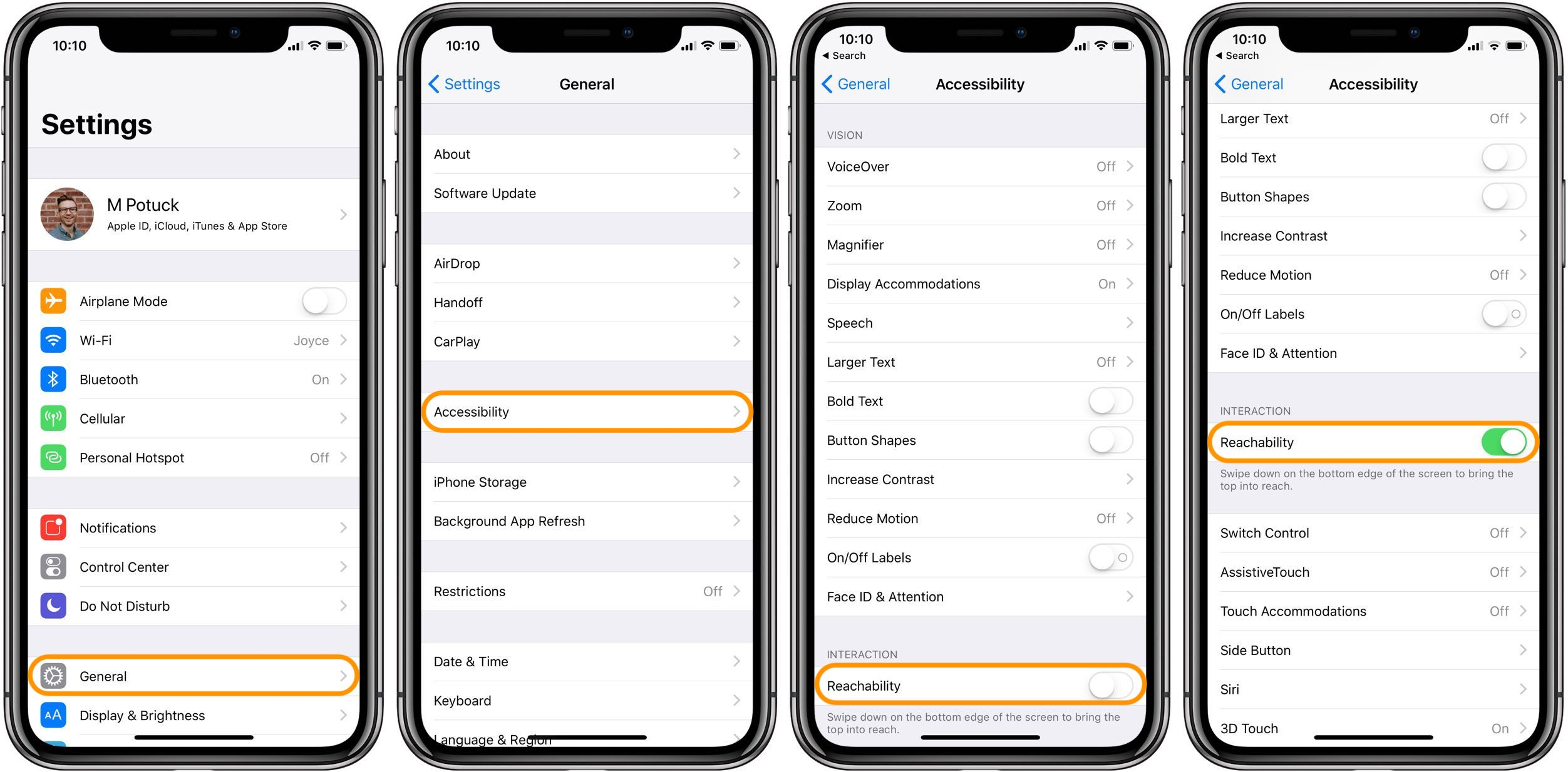 iPhone X: How to enable Reachability, make Control Center