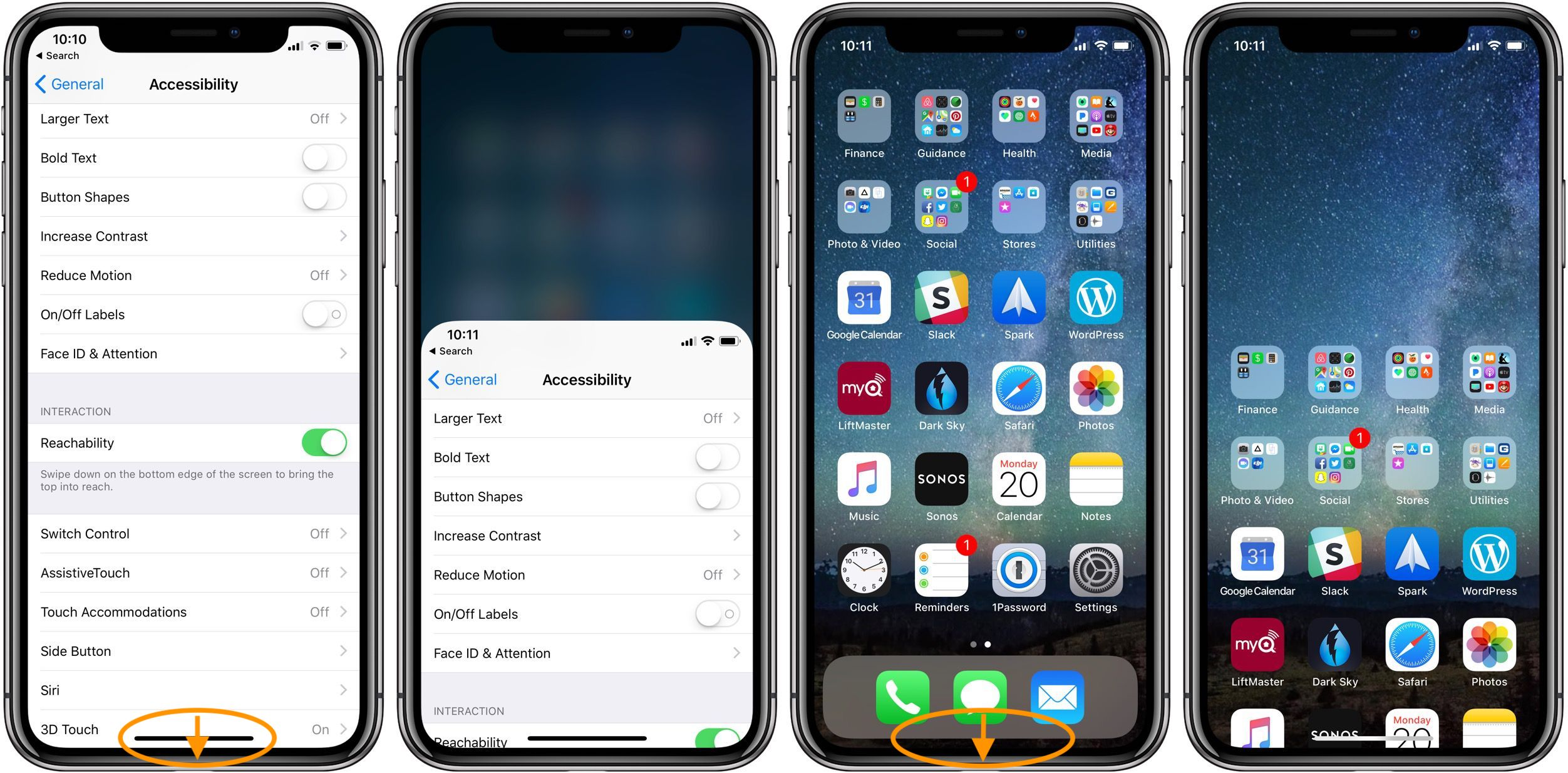iphone x 3d touch settings
