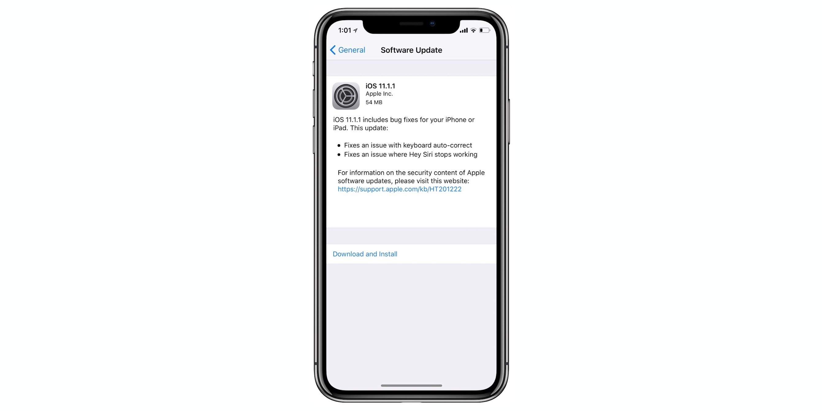 Apple releases iOS 11.1.1 for iPhone and iPad with 'i