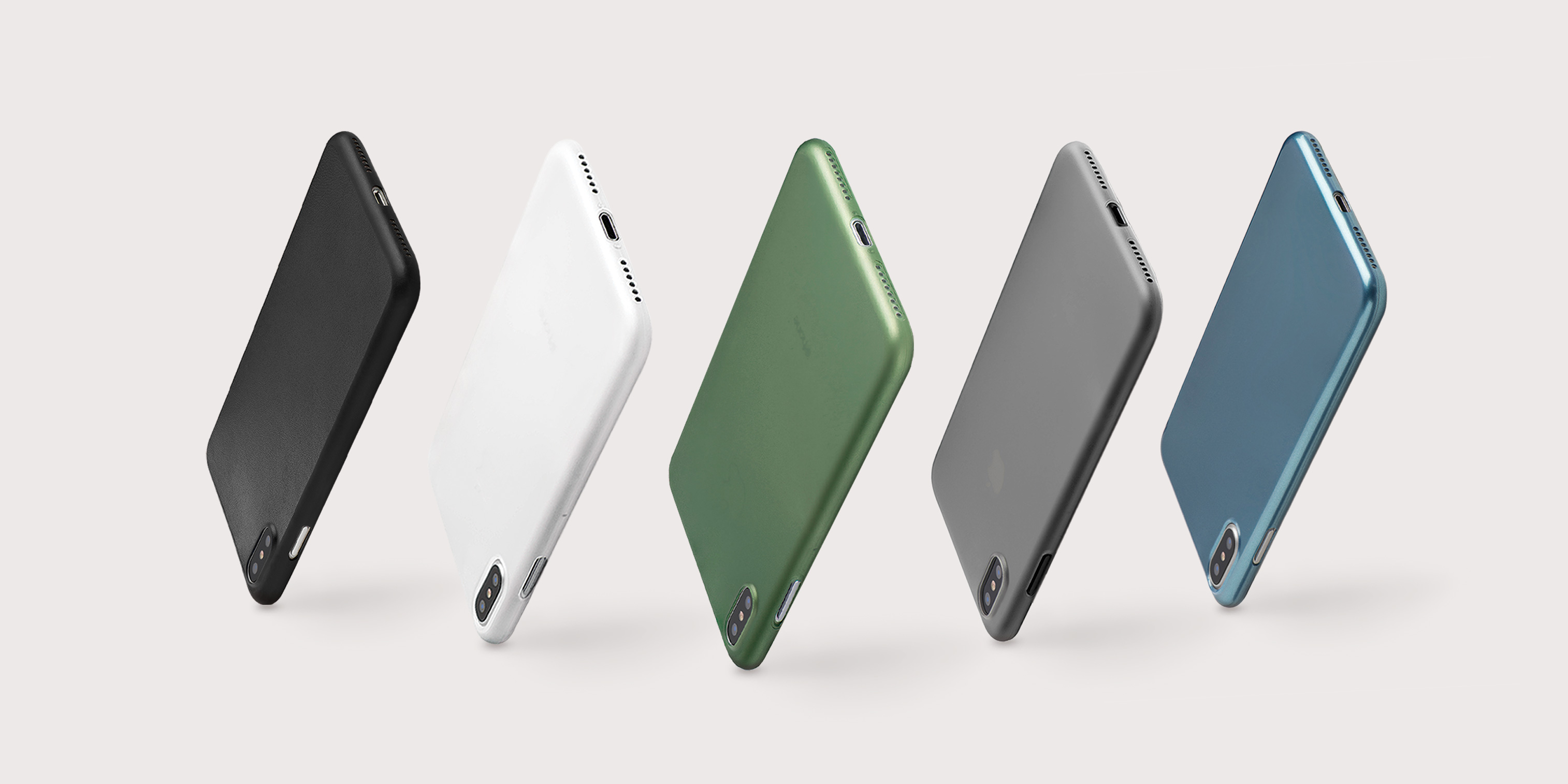 Totallee offers the most minimalistic collection of super thin iPhone X cases