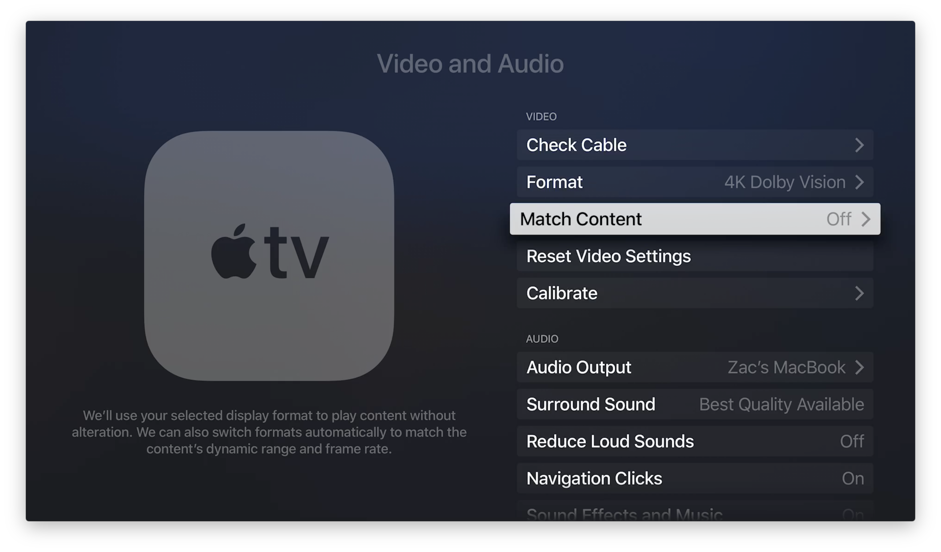 tvOS 11 2 with new HDR and frame rate options now available