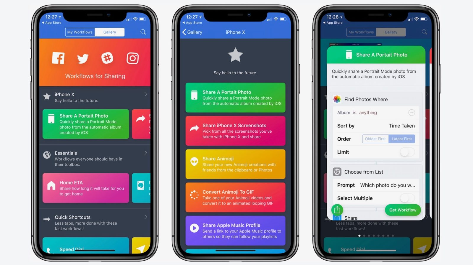 c7be476a8e Apple's Workflow app updated with iPhone X and iOS 11 features, more ...