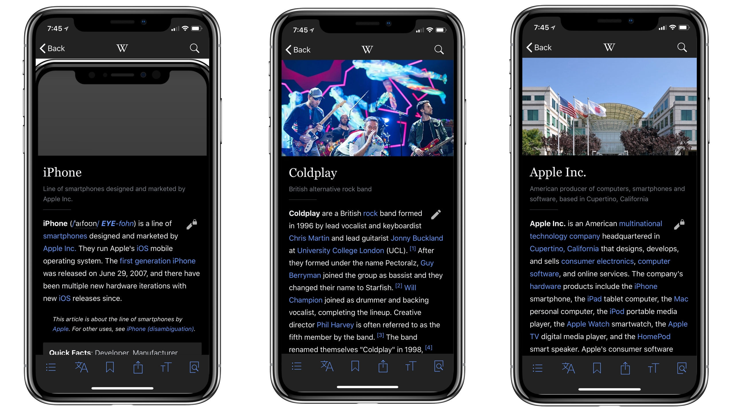 Wikipedia For IOS Adds New Black Mode For IPhone X's OLED