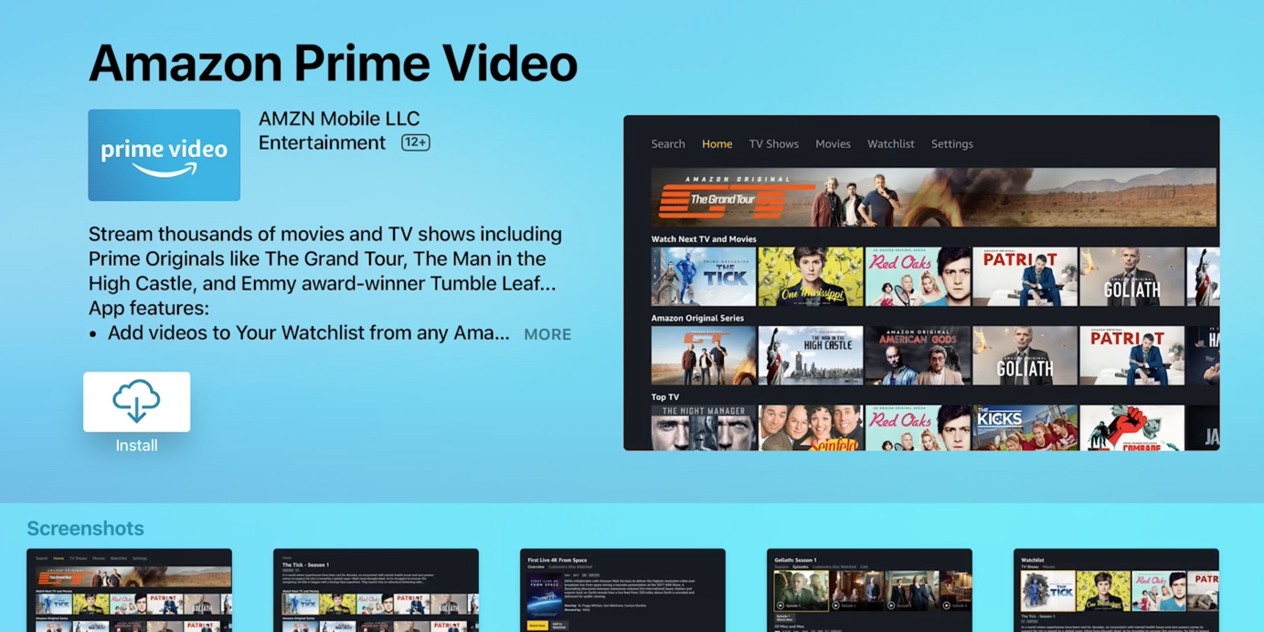 prime video website