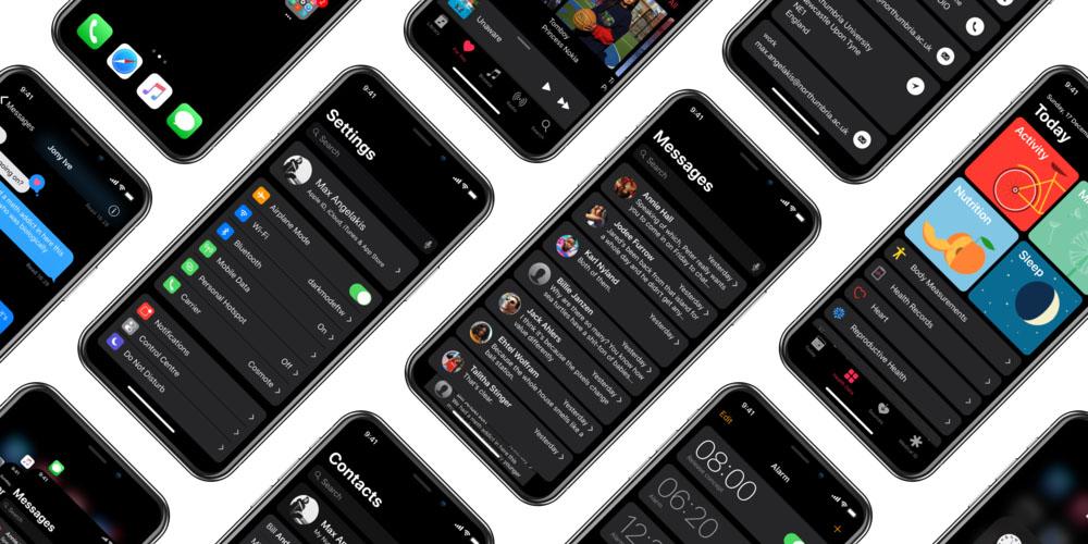 British college student imagines system-wide dark mode on iPhone X