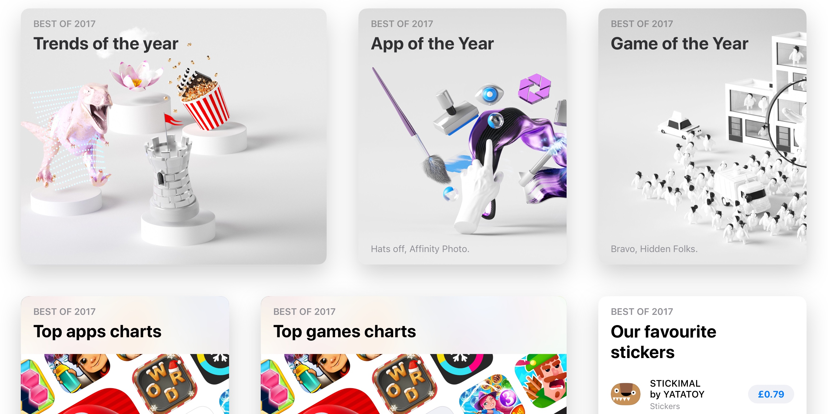 Apple announces App of the Year, Game of the Year, and Best of 2017 top charts