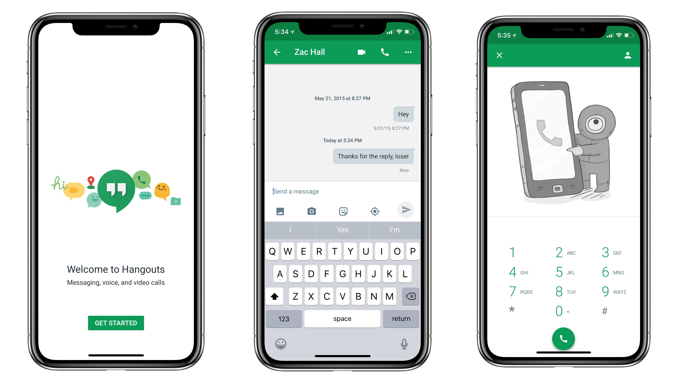 google hangout iphone hangouts on ios is now optimized for the iphone x 10727