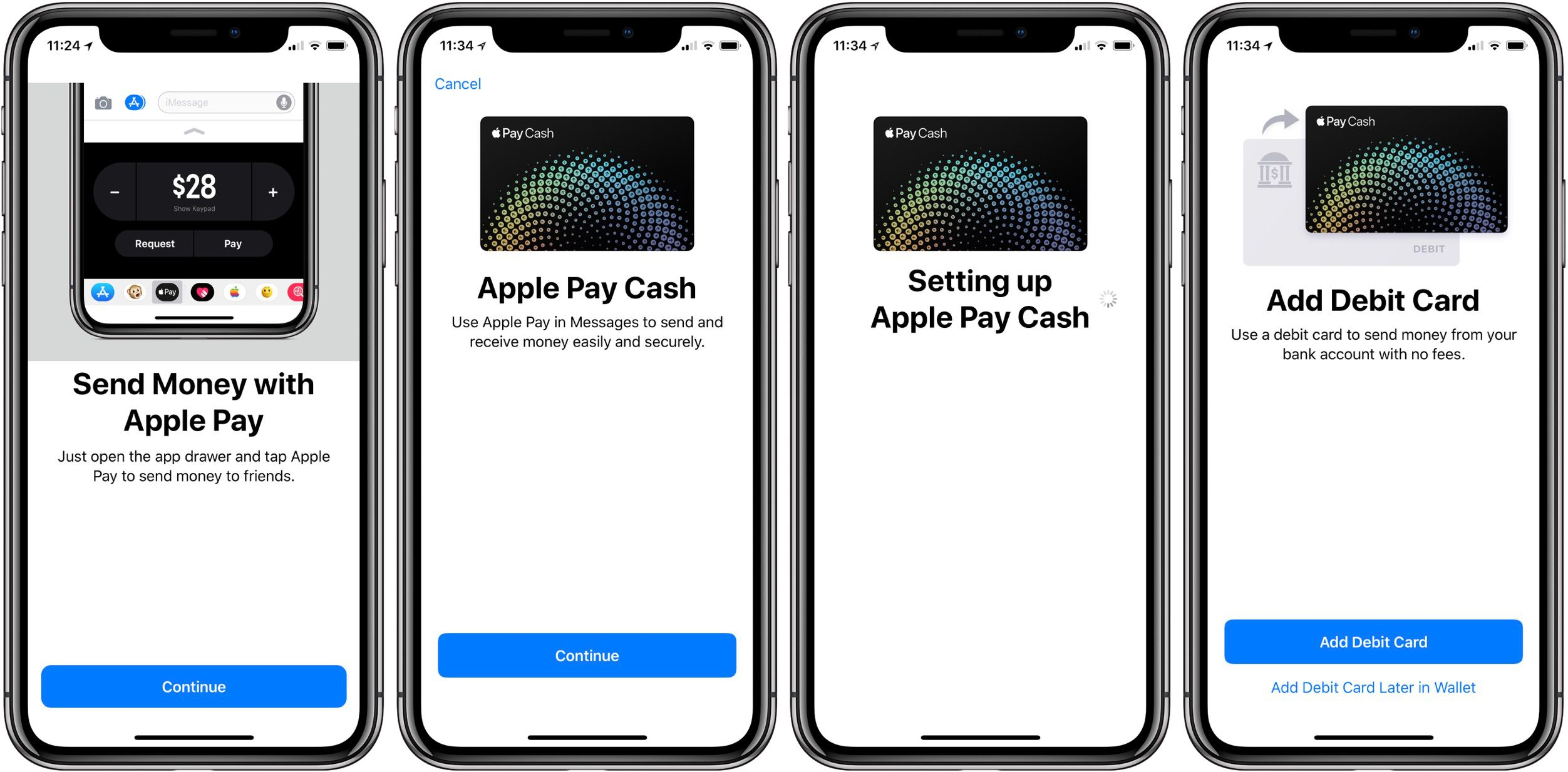 How to get apple pay cash to debit card