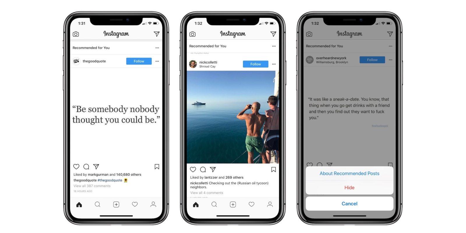 Chancer for os dating instagram post