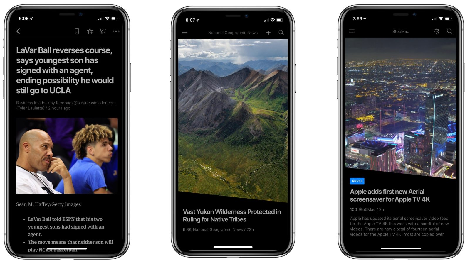 Feedly Updated W Iphone X Optimization And New Dark Mode 9to5mac