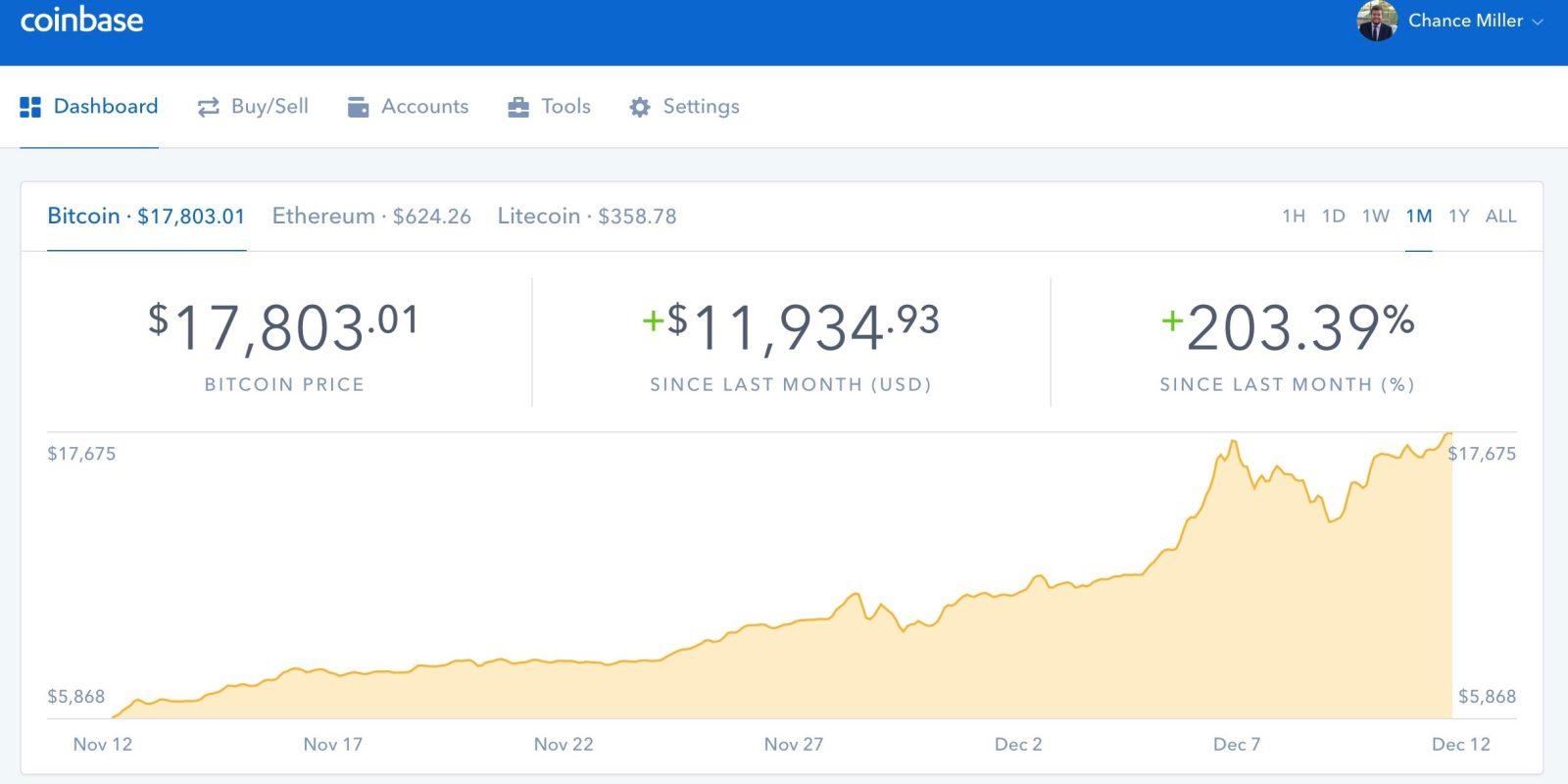 coinbase app screenshot