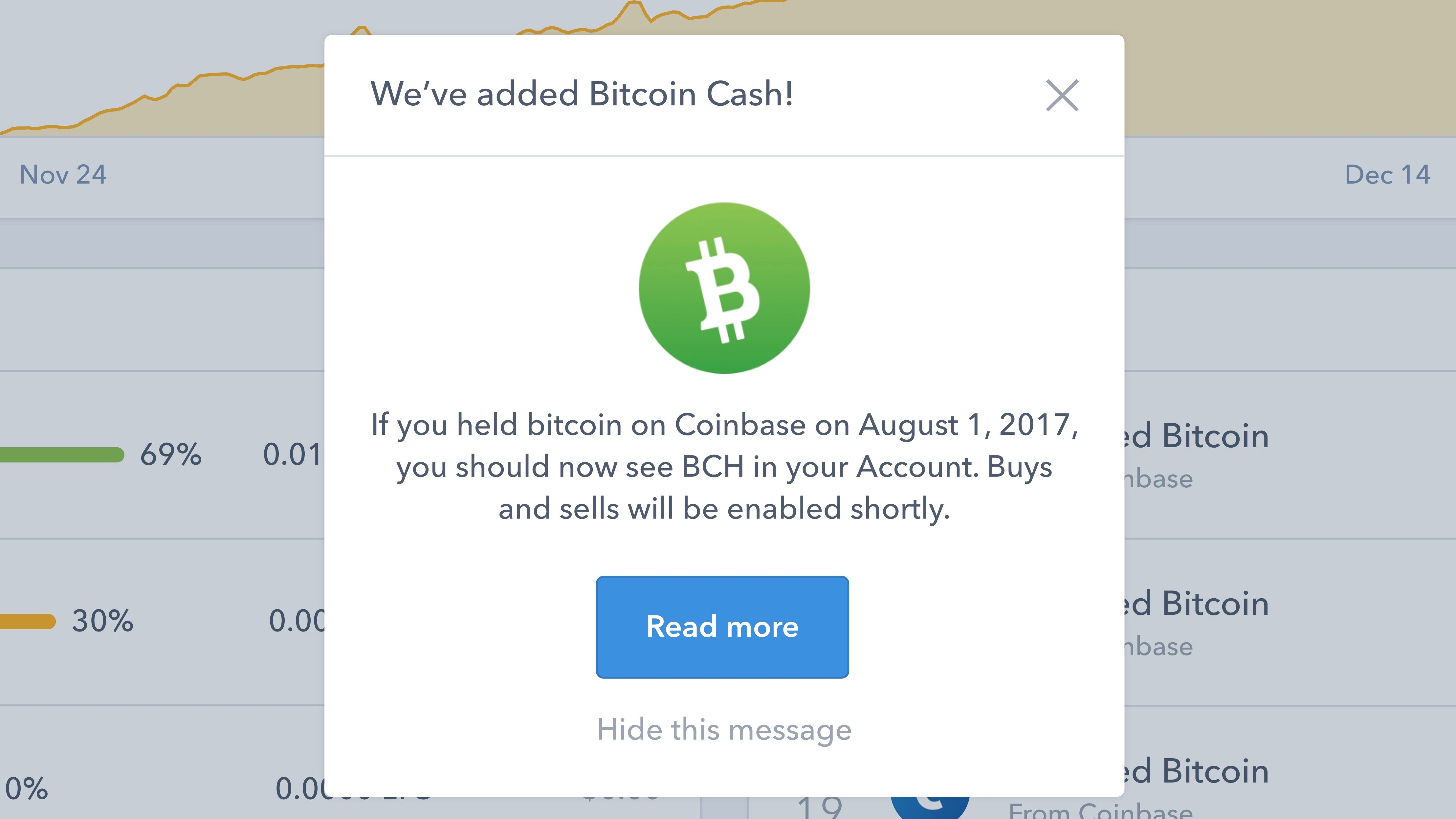 Coinbase for iOS adding support for buying & selling Bitcoin Cash, sending BTC down 10%