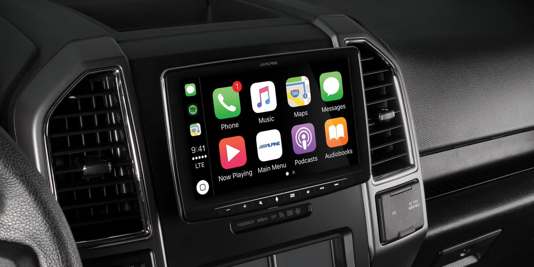 Alpine unveils first 9-inch CarPlay head unit with floating design fit for most cars
