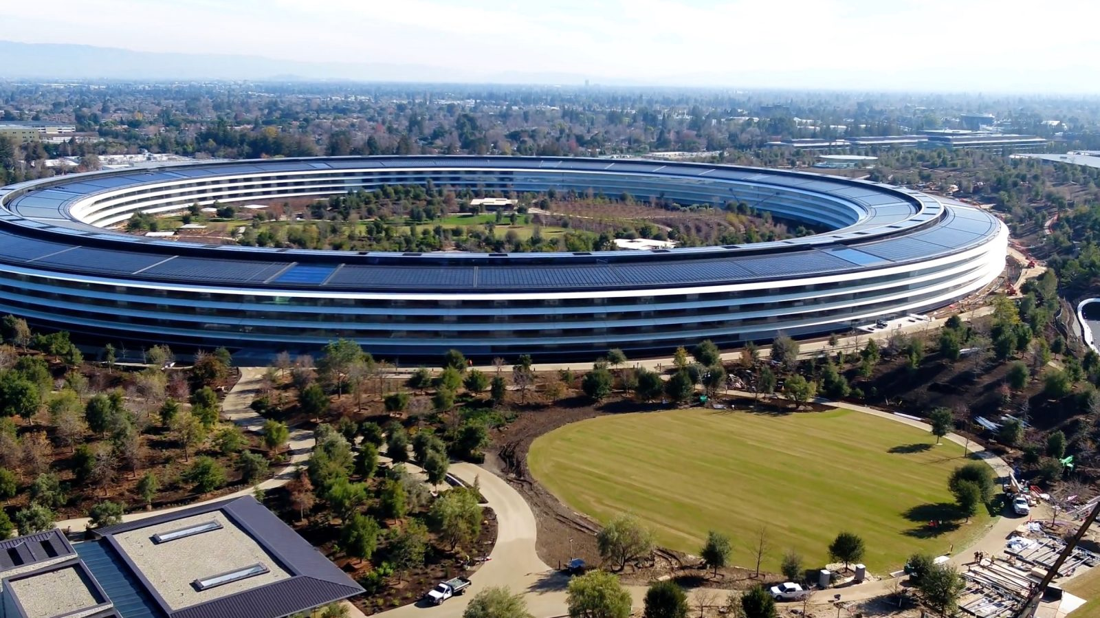 Latest Apple Park Drone Footage Shows Landscaping Final Touches Starting To Take Shape