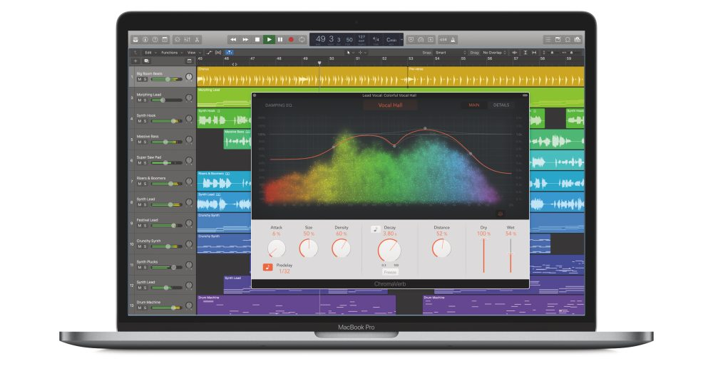 Logic Pro X gets major update: ChromaVerb, Vintage EQs, Multi