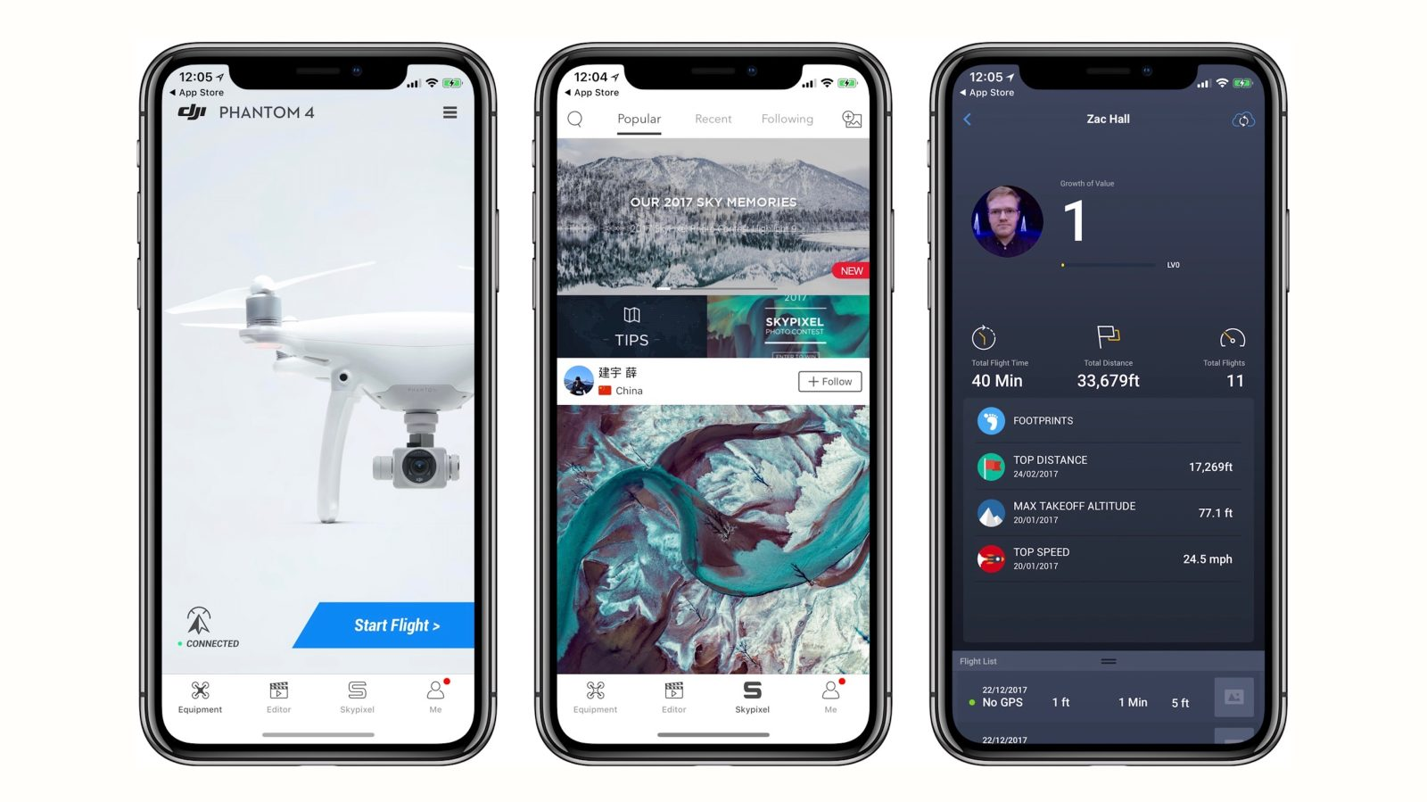 DJI For IOS Now Goes Full Screen On IPhone X New Spark And Phantom 4 Pro Drone Updates