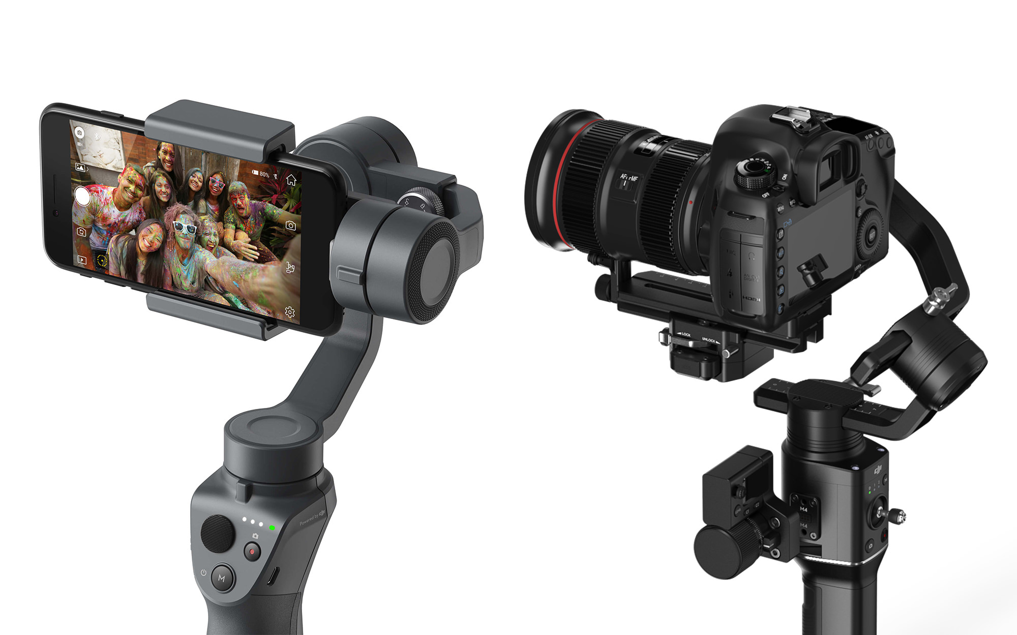 DJI Osmo Mobile 2 and Ronin S